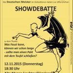 Plakat Showdebatte 2015
